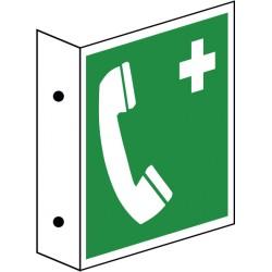 Fahnenschild Notruftelefon (E004)
