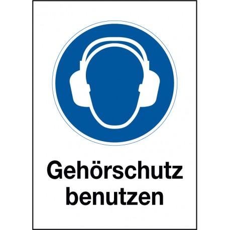 Kombischild Gehörschutz benutzen