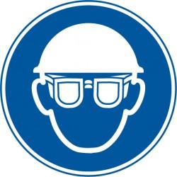 Augenschutz und Kopfschutz benutzen
