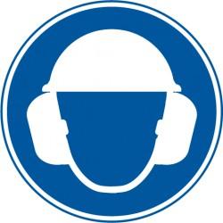 Gehörschutz und Kopfschutz benutzen