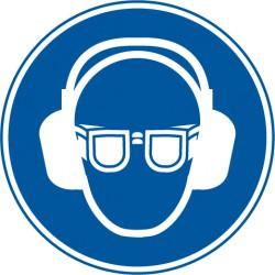 Gehörschutz, und Augenschutz benutzen