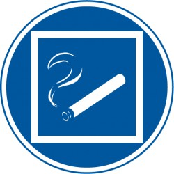 Rauchen nur innerhalb des begrenzten Raumes gestattet