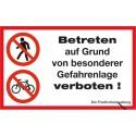 Betreten auf Grund von besonderer Gefahrenlage verboten